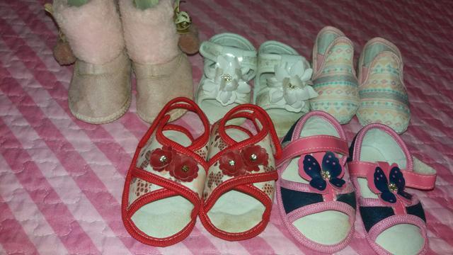 Lote de sapatos e bota
