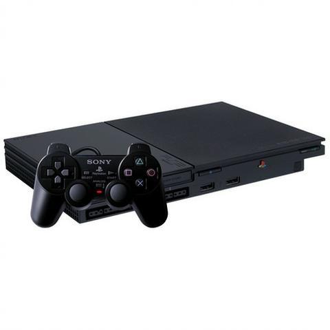 Playstation 2 Slim + 5 Jogos + 1 Controle SONY