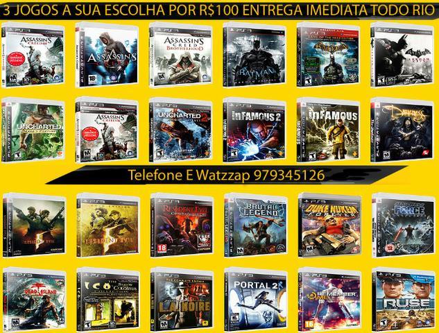 TV 3 jogos originais de playstation 3 A Sua Escolha por 100