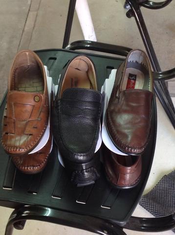 3 pares de sapato mocassim 37