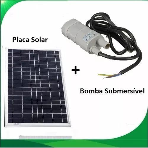 Bomba Dágua Submersível Com Painel Placa Solar Até