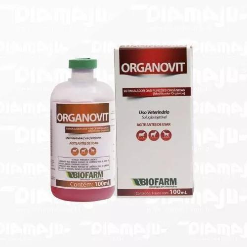 Organovit Estimulante Orgânico Biofarm - Frasco 100 Ml
