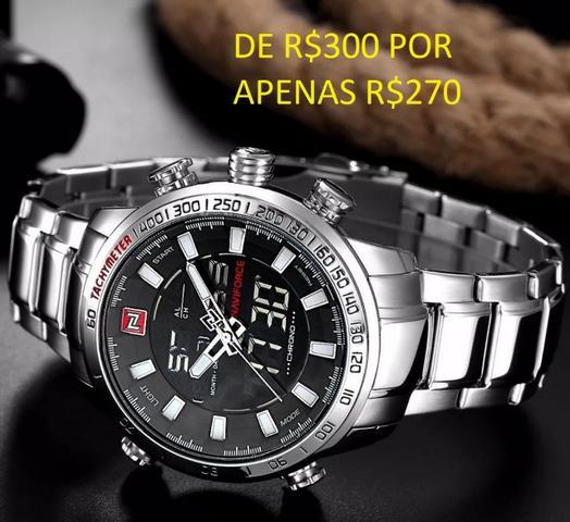 ab89cf68847 Relógio original naviforce business men(aceito cartão)