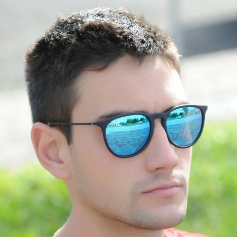 Óculos de Sol Ray Ban Erika Espelhado Azul RB Novo