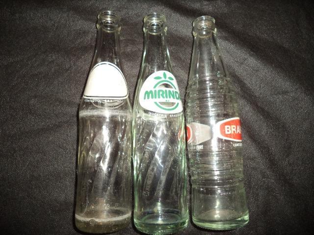 Garrafas Antigas da Década de 70 - Pepsi Mirinda Sukita -