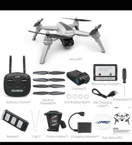 Novo Drone semi-profissonal JJPRO X5 com duas baterias