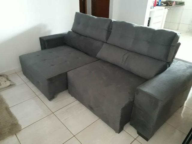 Sofa 2.20 a pronta entrega Retratil e reclinável