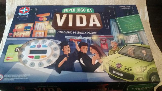 Super jogo da vida com cartão de débito e crédito!