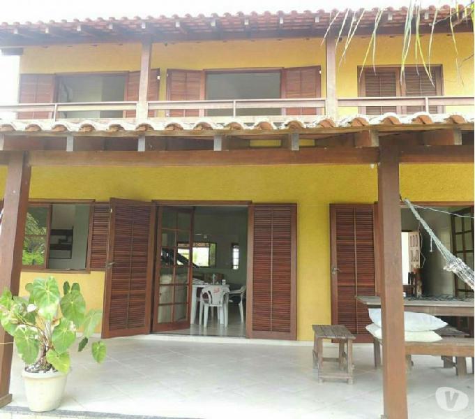 casa para temporada de frente a praia em paraty