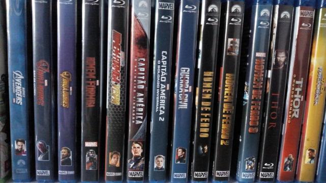 Lote de Blurays Marvel & Dc e Ficção