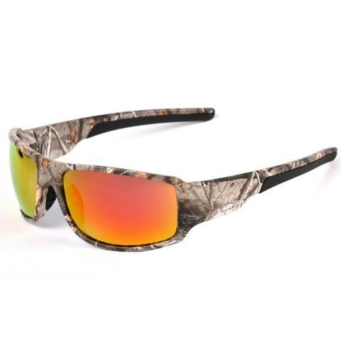 Óculos Camuflado 100% Lentes Polarizadas Azul Ou Preto
