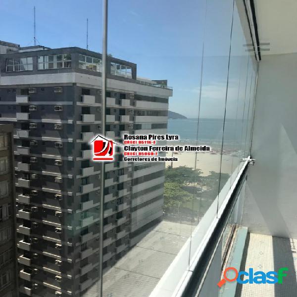 Apartamento 2 quartos,1 vaga, Gonzaga,Santos