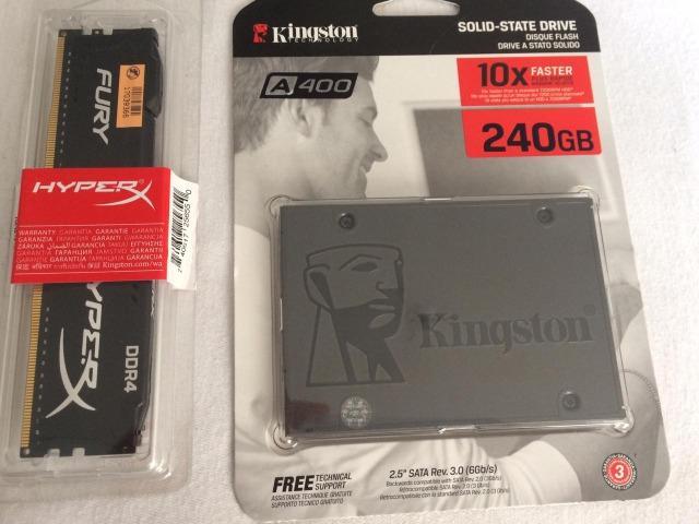 Memoria 8gb e SSD 240gb