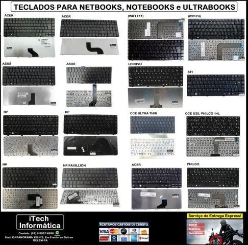 Temos Teclados de Notebook ACER, ASUS, CCE, DELL, HP,