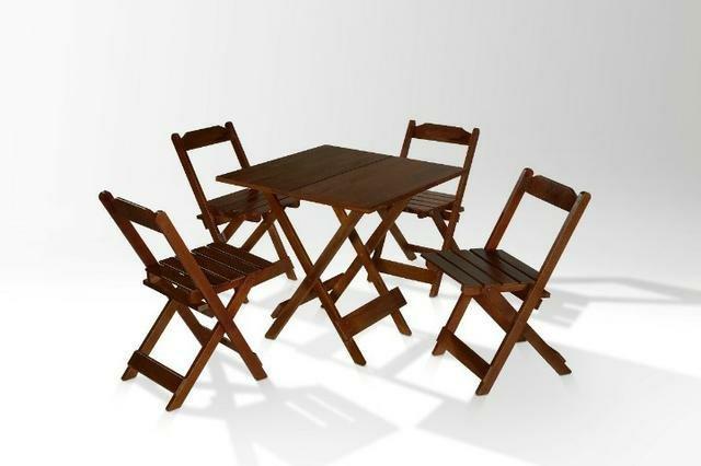 Mesa 4 cadeiras 70x70 pra bar padaria pizzaria
