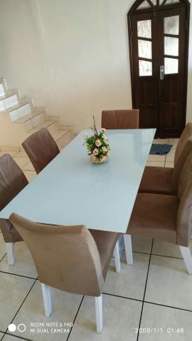 Mesa grande 6 cadeiras. vendo ou troco por celulares do meu