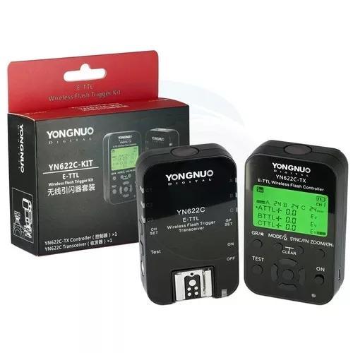 Rádio Flash Yongnuo Yn-622c Tx Com Lcd (par)para Canon