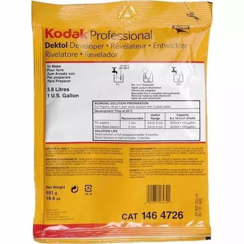 Revelador Kodak Dektol - 551g - 3.8 Litro