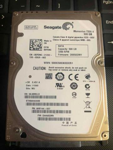 HD notebook Seagate 500Gb RPM