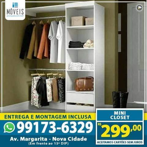 Closets e mini-closets 100% mdf com preços a partir de