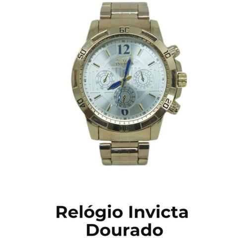 6e087ae9f7e Relógio invicta dourado - incrível promoção (frete