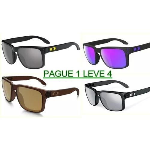 b74f77d49 Kit 4 óculos hlbrok polarizado masculino pague 1 leve 4