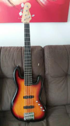 Baixo Fender Squier Deluxe J. Bass V 5c Vendo ou troco
