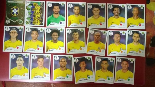 Figurinhas da copa  - Seleção Brasileira completa