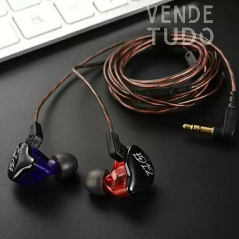 Fone Kz Ed12 Com Mcrofone - Ideal para retorno de palco