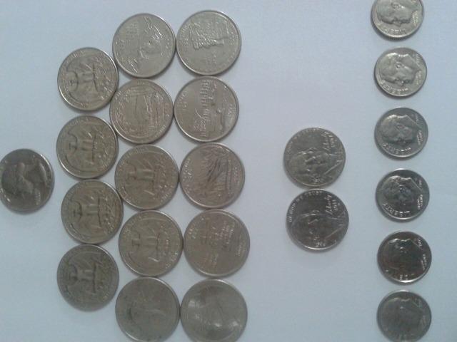 Lote De Moedas Quarter de dollar