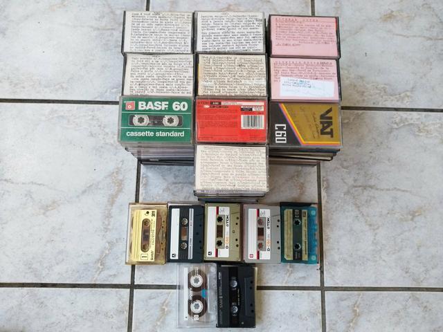 Lote com 107 fita cassete K7 antiga todas gravadas