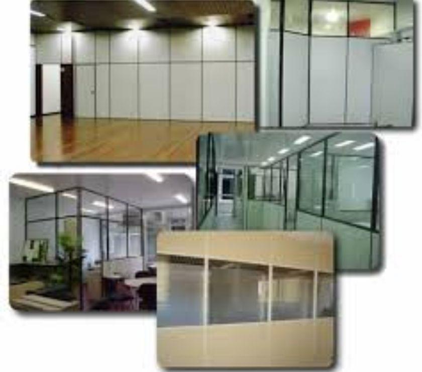 divisórias em Drywall, Eucatex, Vidros comuns e temperados