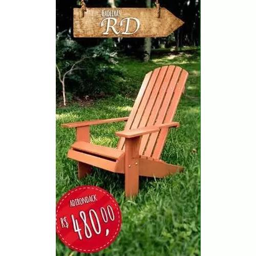 Adirondack, Na Compra De 2 Cadeiras Ganha Uma Réplica 1:5