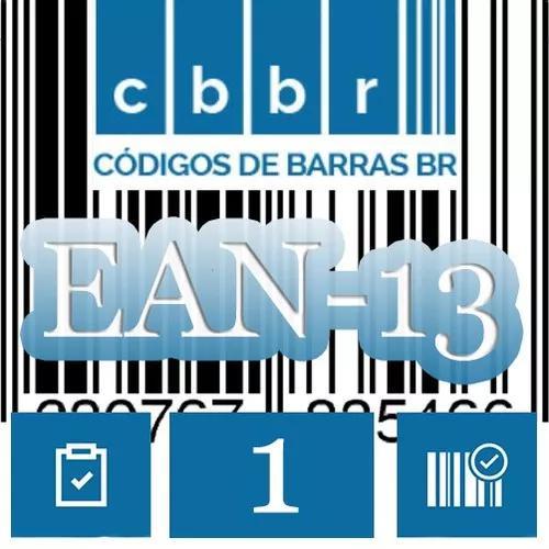 Código De Barras Autêntico Para Varejo Ean13 - 1 Unidade