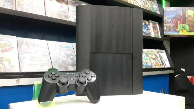 Console PS3 Super Slim + Garantia 10X - Aceito Cartão