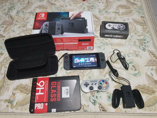 Nintendo switch desbloqueado + cartao 128gb com jogos +