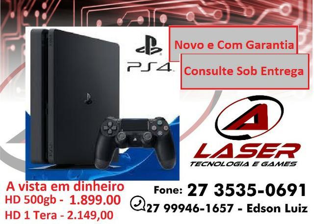 Promoção - Playstation 4 Slim Novo de Verdade!!! Completo!