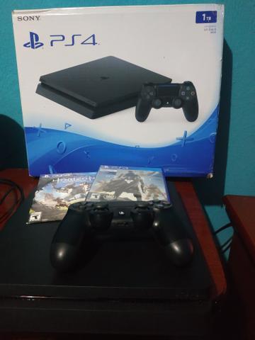 Ps4 Slim 1tb, completo. Aceito Xbox One S