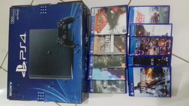 Quero vender Playstation 4 com 10 jogos
