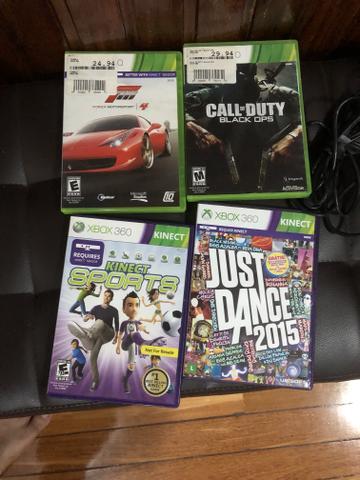 Xbox  Gb com 4 jogos