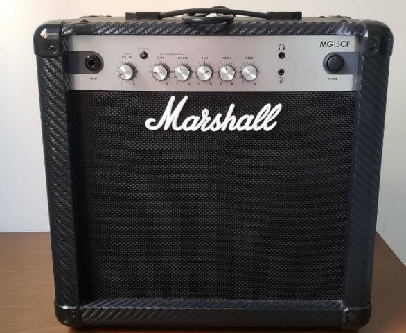 Cubo Amplificador Para Guitarra Marshall 15w Mg15cf