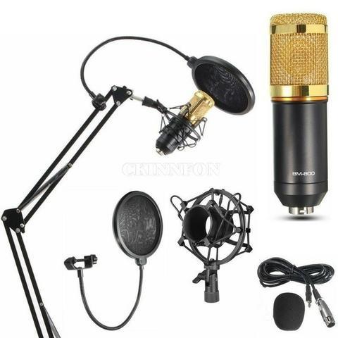 Microfone Estúdio Profissional Bm800 Com Aranha De Metal +