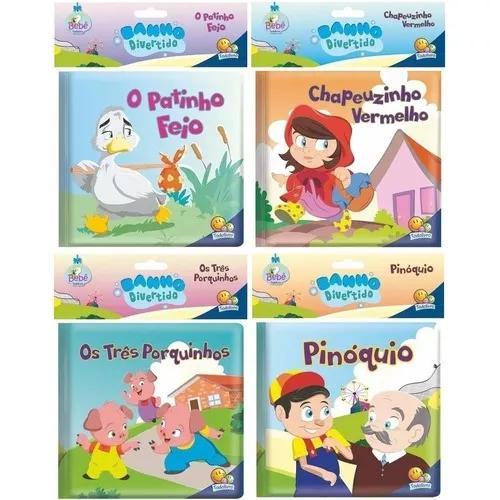 Coleção Primeiro Livro Do Bebê Banho Divertido - 4 Livros