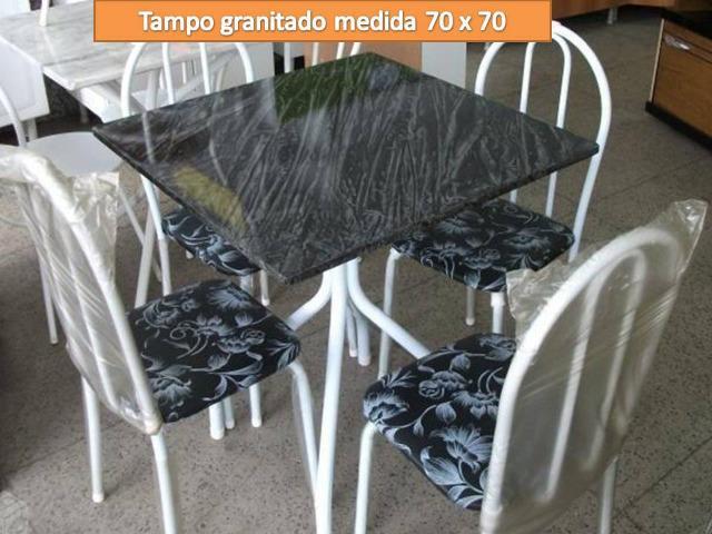 Ligue receba rápido ou retire na loja!Mesa 4 cadeiras(tampo