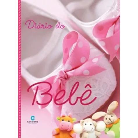 Livro Diário Do Bebê Álbum Capa Dura Menina