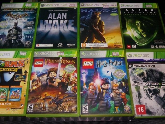 Grande variedade de jogos de xbox 360 originais