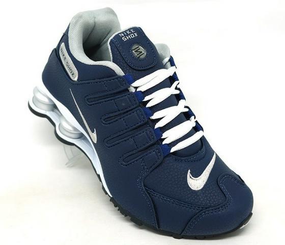 Tênis Nike Shox Nz Azul Marinho E Prata