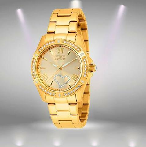 Relógio Feminino Invicta Angel - Banhado a Ouro 18k -