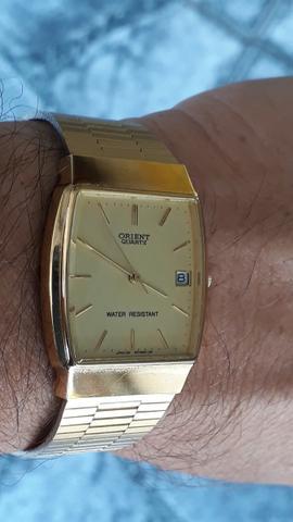 Relógio Orient quartz clássico made in Japan antigo