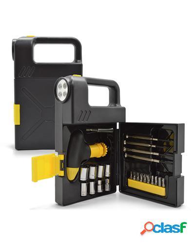 kit de ferramentas com lanterna promocional